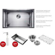 Kitchen Sink Stinks When Running Water by Amazon Com Harrahs 32 Inch Commercial Undermount Single Bowl