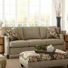 King Hickory Sofa Construction by Chatham Customizable Conversation Sofa With English Arms And Skirt