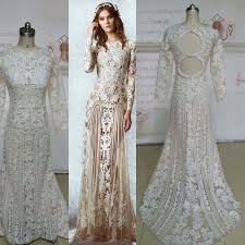 amazing real image zuhai murd wedding dresses long sleeve lace