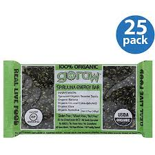 Go Raw Sprouted Pumpkin Seeds Bar by Go Raw 100 Organic Spirulina Energy Bars 1 7 Oz Pack Of 25