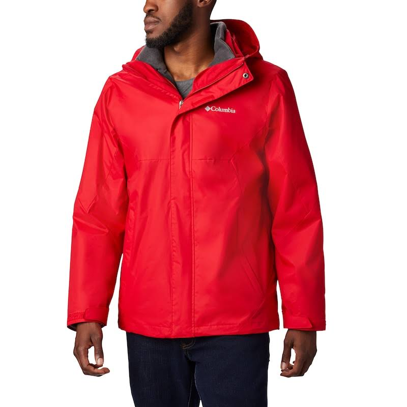 Columbia Men's Eager Air Interchange Jacket, Size: Large, Red