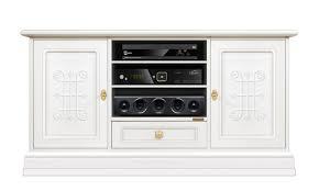 tv schrank weiß friese möbel im stil klassisch modern für wohnzimmer tv möbel weiß aus holz 2 türen 1 schublade 3 fächer einrichtung wohnzimmer