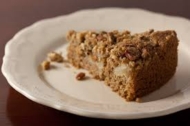 Sour Cream Pear Cake with Pecan Streusel Topping Recipe