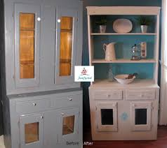 shabby chic style white and teal hutch funcycled