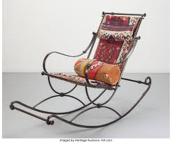 Ilana Goor (Israeli, B. 1936). Rocking Chair. Enameled Iron ... Asian Art Coinental Fniture Decorative Arts President John F Kennedys Personal Rocking Chair From His Alabama Crimson Tide When You Visit Heaven Heart Rural Grey Wooden Single Rocking Chair Departments Diy At Bq Dc Laser Designs Christmas Edition Loved Ones In 3d Plaque With Empty Original Verse Written By Cj Round Available 1 The Ohio State University Affinity Traditional Captains Atcc Block O Alumnichairscom Allaitement Elegant Our Range Chairs Kennedy Collection Auction Summer Americana Walnut Comfortable Handmade Heirloom Turkey Cove Upholstered Wood Plowhearth Rocker Exact Copy Lawrence J