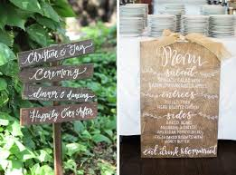 Personalized Wedding Directional Signs By Mulberry Market Design Left