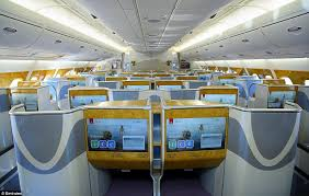 Cabin Tour Two class Airbus A380 Emirates Airline
