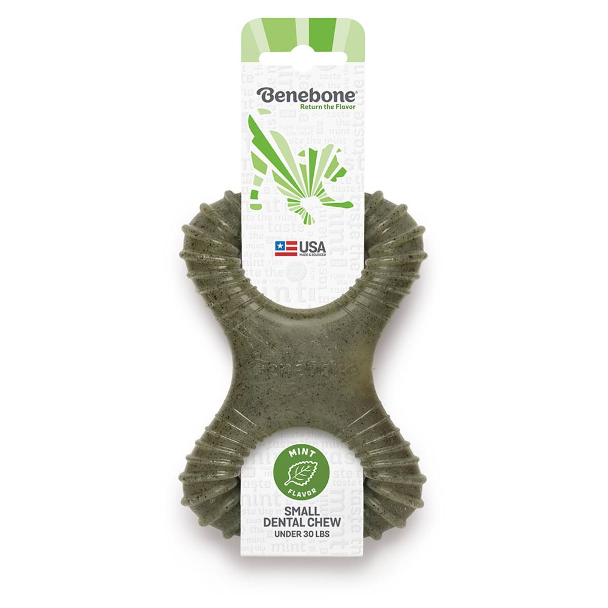 Benebone Mint Dental Chew Dog Toy, Small