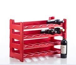 Plastic Wine Rack 6 Bottle Section