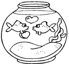 Familyfuncoloring Fish Bowl Coloring Pages Easy Sheet Page Of Stylizr