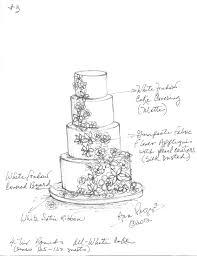 Custom Wedding Cake Sketch