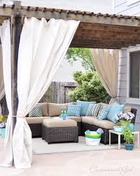 Curtains With Grommets Diy by Easy Outdoor Curtain Diy Tutorial Made From Lowes U0027 Canvas Drop