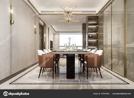 rendering esstisch modernen luxus esszimmer