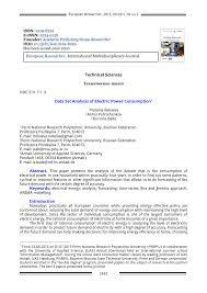 PDF Data Set Analysis Of Electric Power