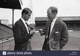 1964 Charlton Athletic FC Historical Picture A Footballer Shows Local Newspaper Reporter His New Football Club Official Tie