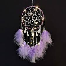 traumfänger mit led licht handgemachte dreamcatcher mit federn maiden zimmer schlafzimmer romantische dekoration für wandbehang