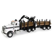 Peterbilt Big Farm 1:16 367 Logging Truck W/ Pup Trailer/Logs Toy ...