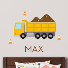 Dump Truck Wall Decal (Personalized) - Yellow | Dump Trucks, Wall ... Cars Wall Decals Best Vinyl Decal Monster Truck Garage Decor Cstruction For Boys Fire Truck Wall Decal Department Art Custom Sticker Dump Xxl Nursery Kids Rooms Boy Room Fire Xl Trucks Stickers Elitflat Plane Car Etsy Murals Theme Ideas Racing Art