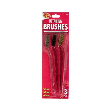 Tiger Accessory Group 4b3198 3-Piece Auto Detailing Brush,