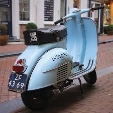 Moped Motorcycle Vespa Retro Blue City Amsterdam