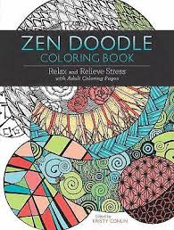 Zen Doodle Coloring Book Relax And Relieve Stress With Adult