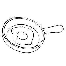 Fried Egg clipart coloring book 3