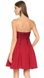 notte by marchesa strapless dress in red lyst