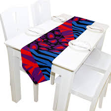 Amazoncom LORVIES Zebra Skin Table Runner 13 X 90 Inch Decorative
