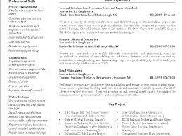 Utility Worker Resume Of Construction Example General