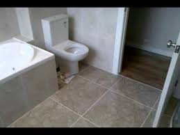 bathroom floor and wall half height 6x6 3x6