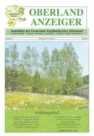 oberland anzeiger amtsblatt der gemeinde vogtländisches