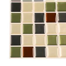 Smart Tiles Mosaik Multi by Smart Tiles Idaho 9 85 In W X 9 85 In H Decorative Mosaic Wall