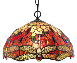 amora lighting am1034hl14 style stained glass hanging l