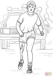 Frederick Douglass Coloring Page Terry Fox Run Free Printable Pages