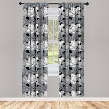gardine fensterbehandlungen 2 panel set für wohnzimmer schlafzimmer dekor abakuhaus schwarz und grau lotus kaufen otto