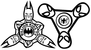 Spinner Batman Vs Spiderman Coloring Book Pages Kids Fun Art For