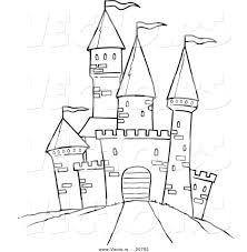 Disney Castle Pumpkin Carving Patterns by Printable Black And White Art Vector Of A Cartoon Path Leading
