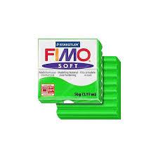 pâte fimo soft 56g vert tropical 53 1 ideal pour creation de