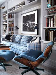 This Eames Lounge Chair Is Reupholstered In Blue Boiled Wool ...