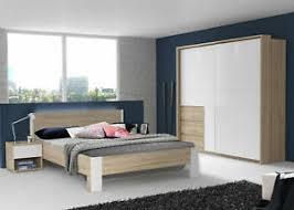 details zu schlafzimmer set komplett 4 teilig bett 160x200cm bianco eiche weiß 66655479