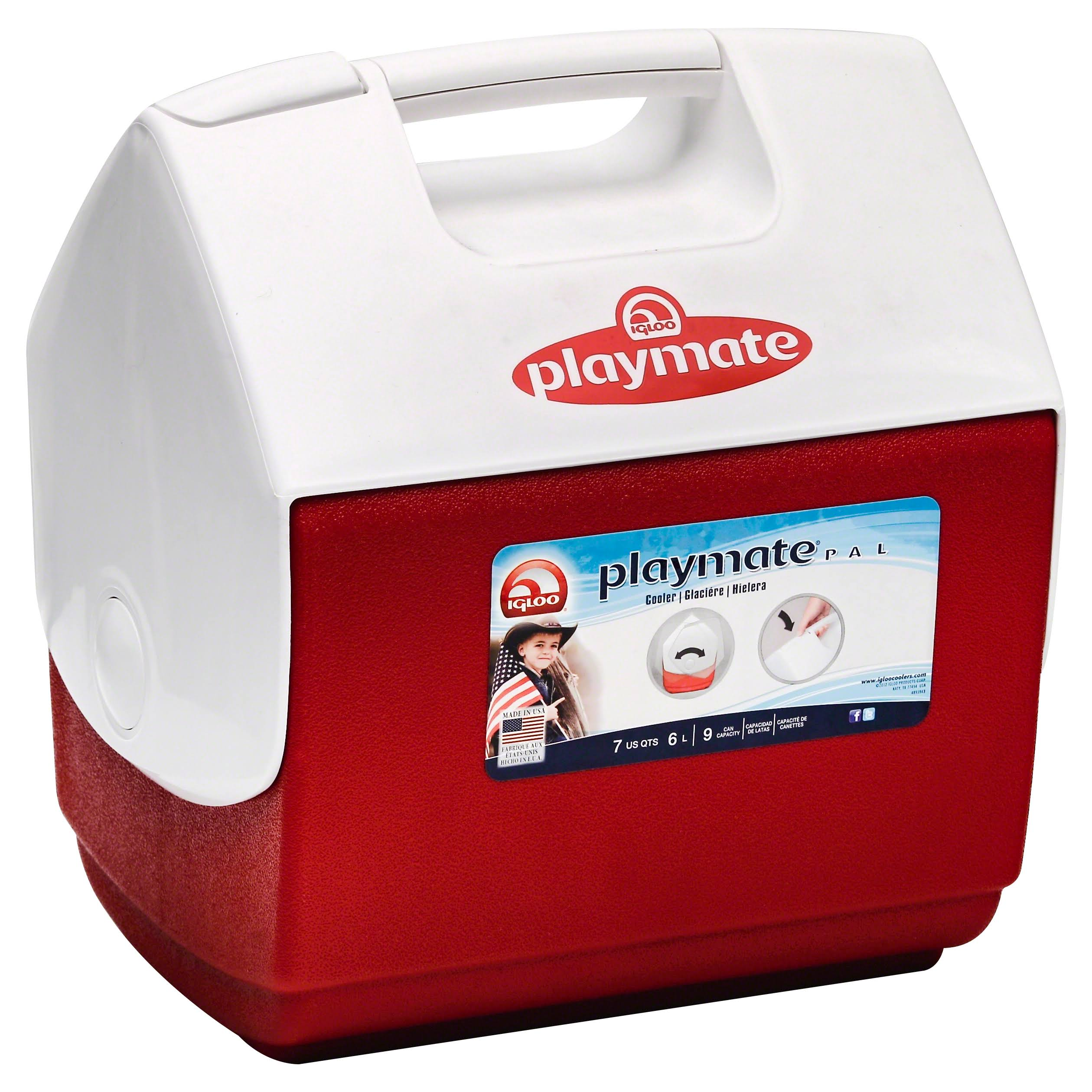 "Igloo Playmate Pal Personal Sized Cooler - Red, White, 11.75"" X 8.25"" X 12"""