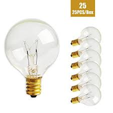 zitrades patio lights g40 bulbs 25pcs 5 watts clear glass globe