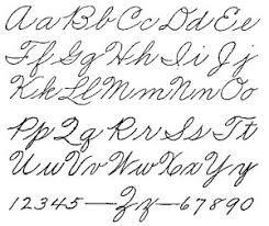 Image result for capital cursive handwriting letters