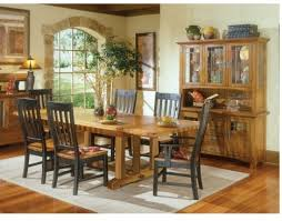 Rustic Mission Dining Room Furniture Curved Slat Arm Chair