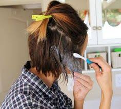 Put some dye on your hair brush and do this It s brilliant