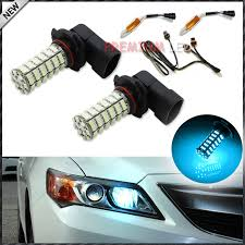 2 bright 120 smd blue 9005 hb3 led bulbs for acura tsx