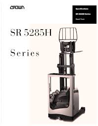 Crown Equipment Reach Truck SR 5285H Series User Manual | 6 Pages Ces 20648 Crown Rr2035 Reach Electric Forklift 210 Coronado Used Raymond R40tt Stand Up Deep Narrow Aisle Walk Behind Truck Hire For Rd5280230 Double 2002 400 Triple Mast Lift Schematics Wiring Diagrams How Much Does Do Forklifts Cost Getaforkliftcom 3wheel Rc 5500 Crown Pdf Catalogue Action Trucks Full Cabin For C5 Gas Forklift With Unrivalled Ergonomics And Esr4500 Reach Truck Year 2007 Sale Mascus Usa Order Picker Sp Equipment Toyota Reachtruck Fleet Management Png