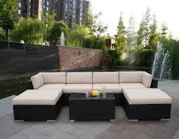 Boscovs Patio Furniture Cushions by 4pc Outdoor Patio Gardenture Wicker Rattan Sofa Set Black Outside
