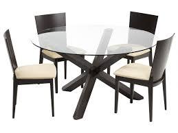 table et 4 chaises ensemble table 4 chaises centauri bois chocolat