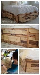 Brandy Scrap Wood Storage Bed With Drawers